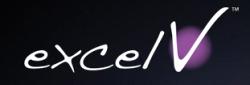 Excel V™ laser logo